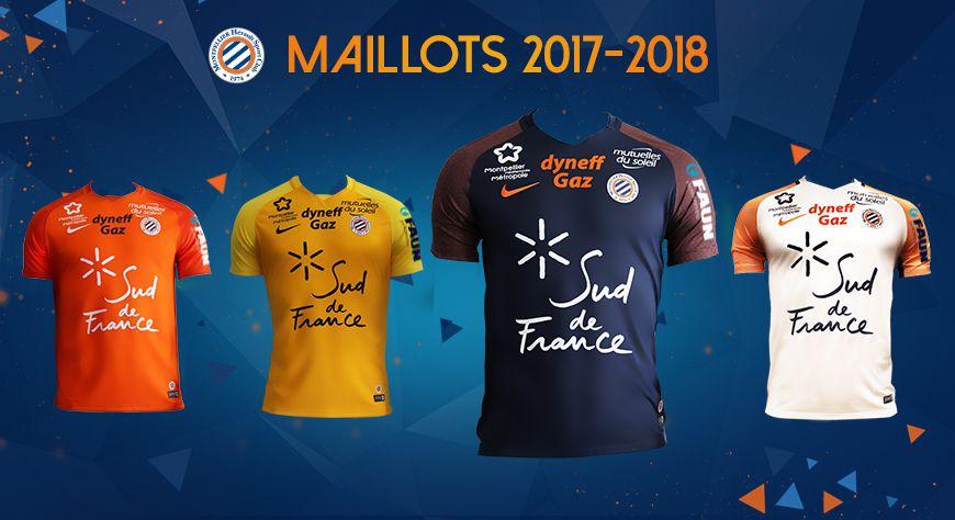 Découvrez Les Maillots Du MHSC Saison 2017-2018